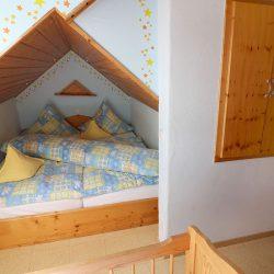 Schlafzimmer 1 im Zwerchgiebel